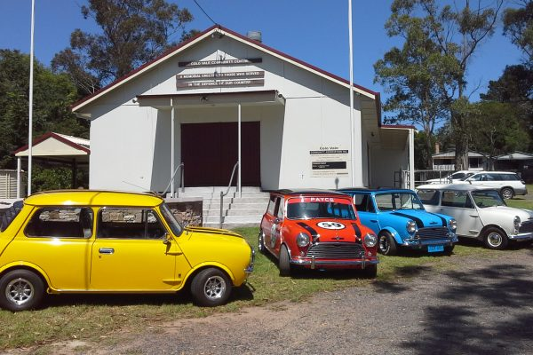 Minis at hall for market day